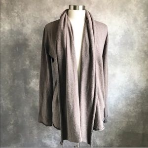 BB Dakota Brown Drape Open Long Cardigan Slouchy L